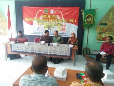Sosialisasi Forum Pembauran Kebangsaan ( FPK ) di Pendopo Kecamatan Gondomanan Tahun  2019