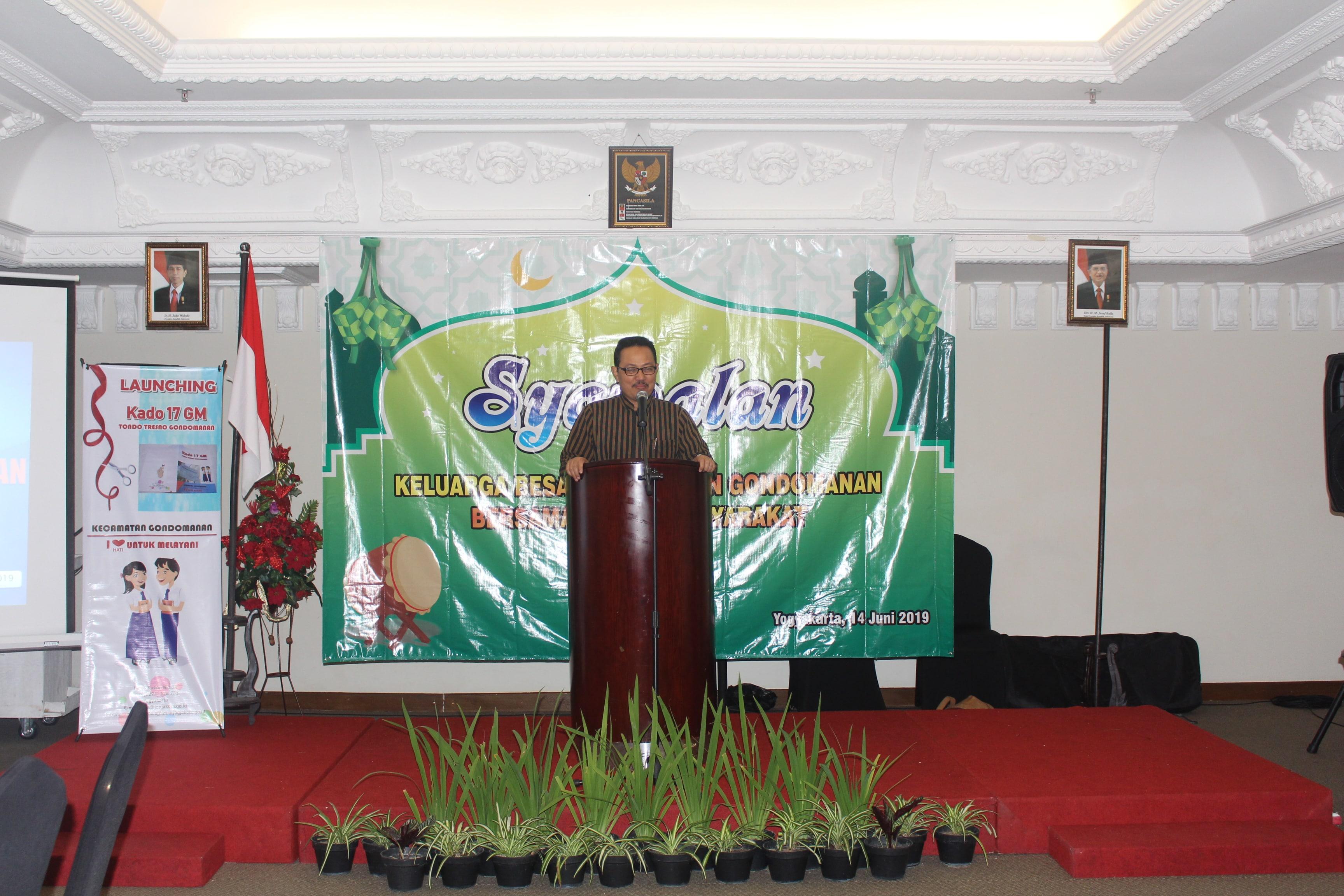 Syawalan serta Pisah Sambut Camat Gondomanan yang di hadiri oleh Bapak Wakil Walikota