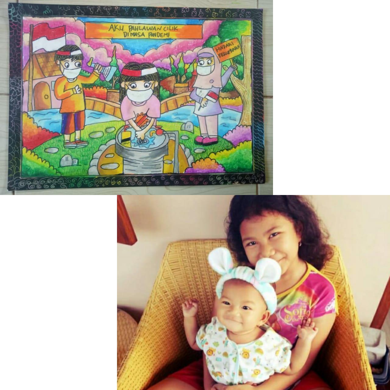 Pemenang Lomba Menggambar : Zhifara Queena Dewi Nugraha (9 th)